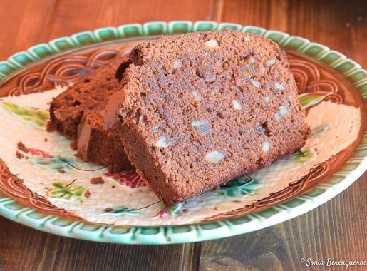 Cake de xocolata destacada
