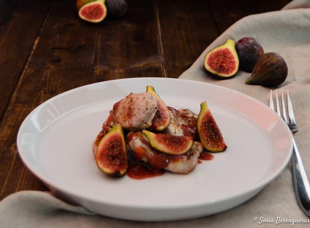 Llaminera amb salsa figues destacada