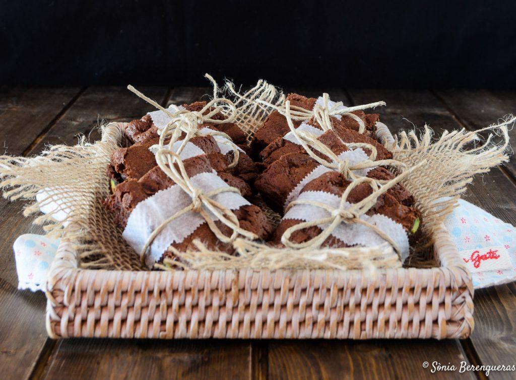 Brownie amb festucs destacada