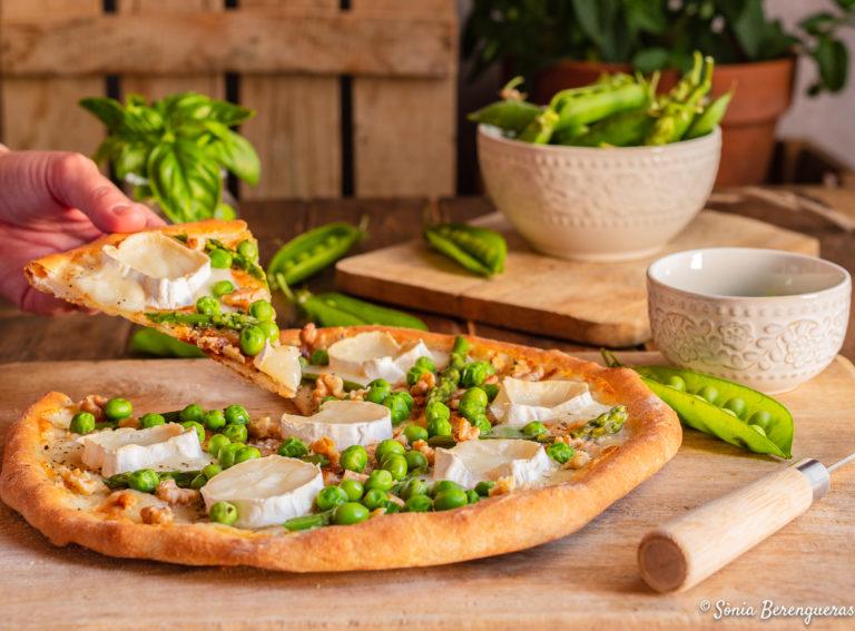 Pizza amb pèsols-2
